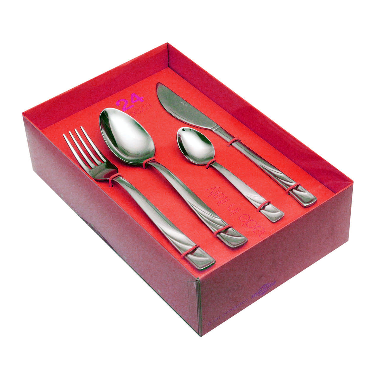 61320524 24 pcs. cutlery set forged knife Nature Box