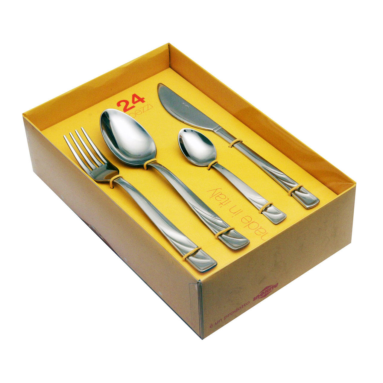 61320525 24 pcs. cutlery set pressed knife Nature Box