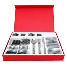 66320047 48 pcs. cutlery set pressed knife Design Case