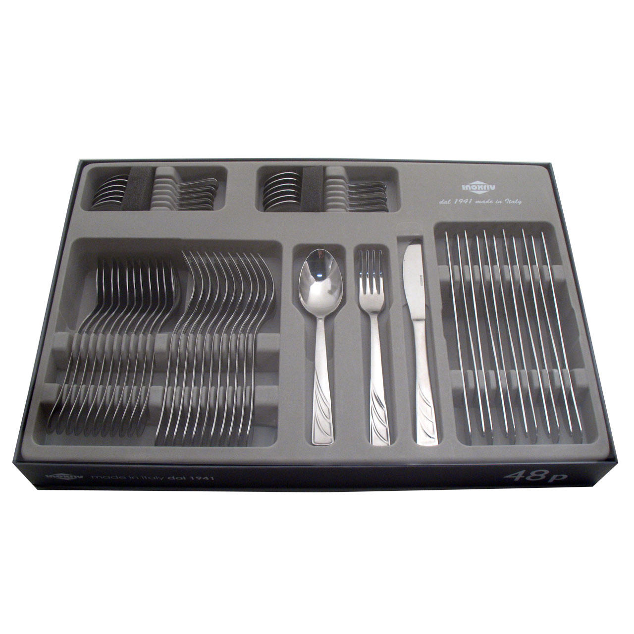 67320048 48 pcs. cutlery set pressed knife Design Window Box