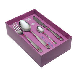 614424 24 pcs. cutlery set 18/10 stainless steel Nature Box