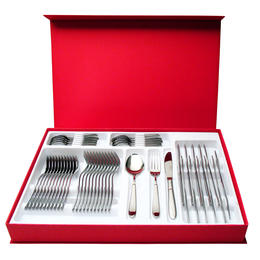 66401148 48 pcs. cutlery set 18/10 stainless steel Design Case