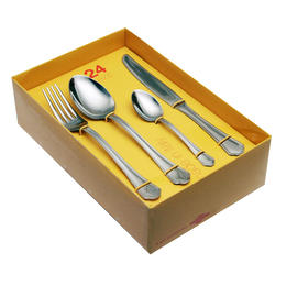 61600526 24 pcs. cutlery set pressed knife Nature Box