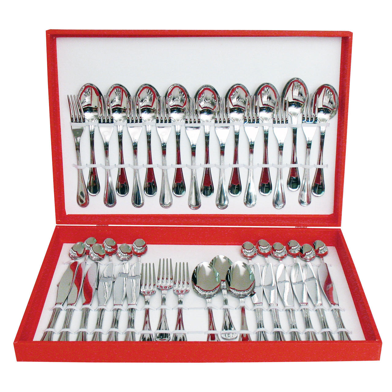 61010048 48 pcs. cutlery set Wooden Box