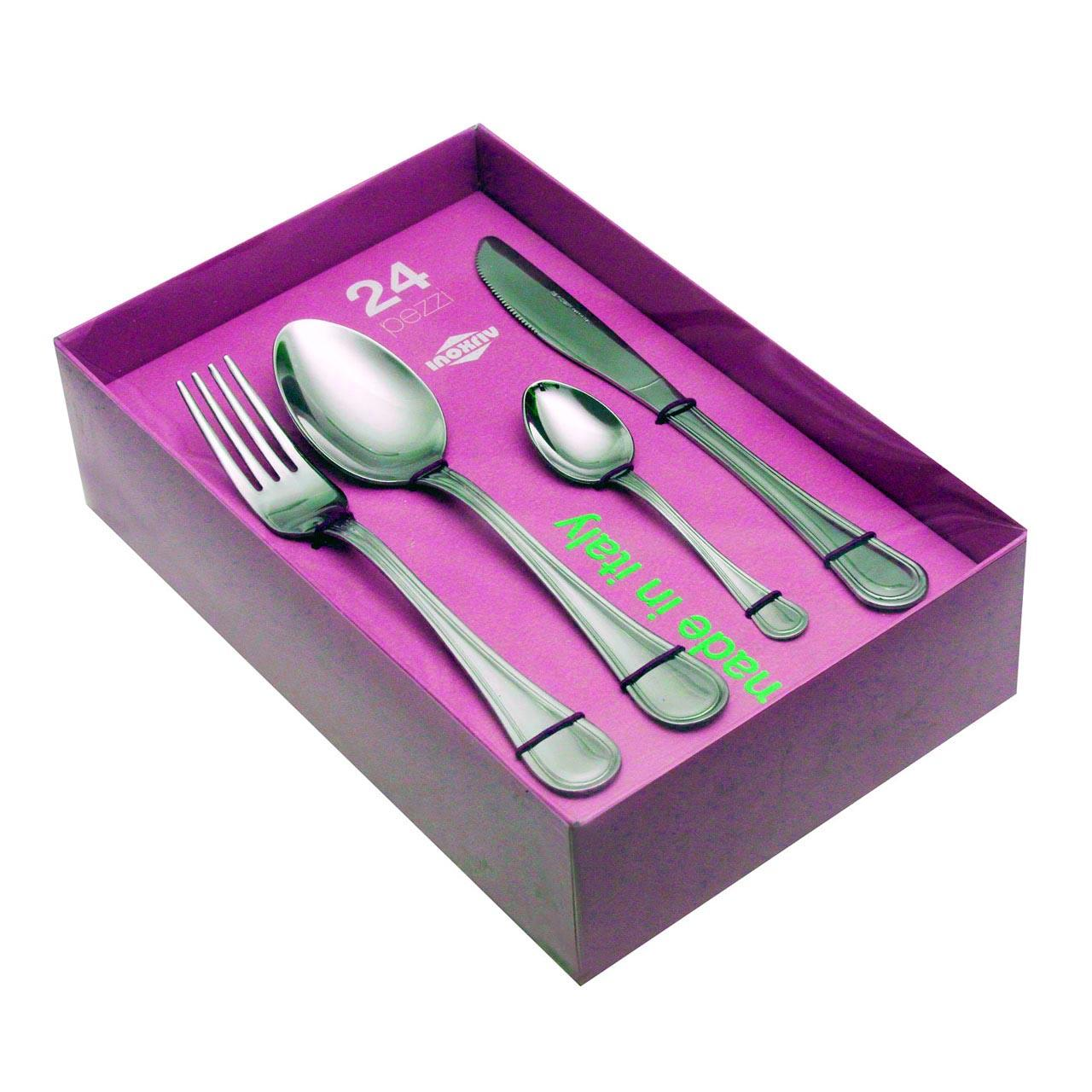 61319624 24 pcs. cutlery set Diana knife Natura Box